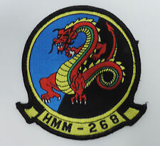 USMC HELICOPTER SQDRN HMM-268 RED DRAGON PATCH