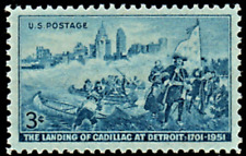 More details for us sc unmounted mint og nh 3c landing of cadillac 1951 issue, top grade