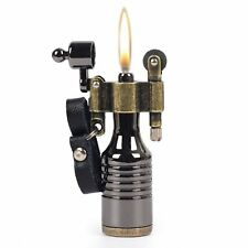 Yibao Vintage Retro Antique Looking Style Petrol Brass Cigar Cigarette Lighter