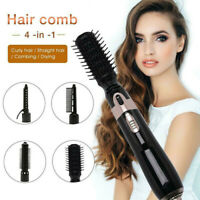 4 IN 1 Electric Hair Blow Dryer Straightener Curler Comb Styler w/Ionic Hot Air