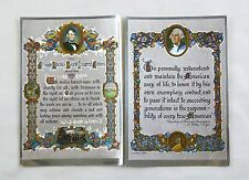 Lincoln's Second Inaugural Address and George Washington Quote Foil Print Set