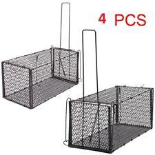 More details for metal mouse trap humane live catcher rat vermin rodent cage 4 pcs traps pest sm