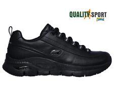 Skechers Arch Fit Nero Pelle Scarpe Donna Sportive Sneakers 149146 BBK 2020
