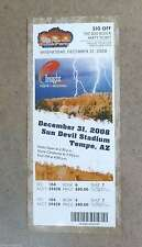 INSIGHT BOWL FULL UNUSED TICKET - KANSAS vs MINNESOTA - 2008