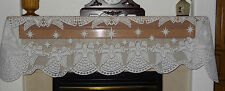 Heritage Lace Polyster Christmas White Angel Design Mantel Scarf 19 x 90 (431)