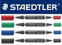Staedtler Twin Tip Permanent Marker Pen - Lumocolor Duo Fine & Med Tip 0.6/1.5mm