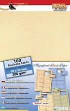DECAdry SCR-7880 Cards 200Gr Parchment Business Cards. Make your own  cards