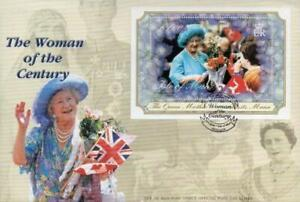 2000 ISLE OF MAN 🍁👑 QUEEN MOTHER 👑 Souvenir Sheet First Day Cover 👑🍁