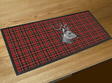 Royal Stewart Red Tartan Stag Scottish Bar runner counter mat pub home bar