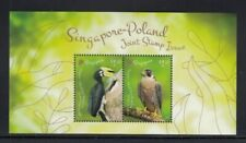 SINGAPORE Hornbill & Falcon JOINT ISSUE WITH POLAND MNH souvenir sheet