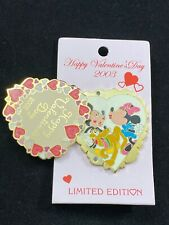 Disney Pin - Sweetheart Series Mickey Minnie Pluto Valentine's Day 2003 LE 18960