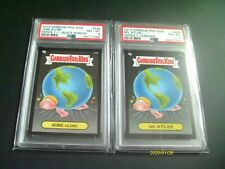 GPK Garbage Pail Kids PSA Grade Black Border Matched Pair Jobe Globe & Spl Atlas