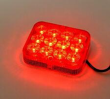 12 LED's SUPER HELL Nebelschlussleuchte Rücklicht Anhänger Trailer 100x80x25mm s