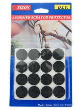 Fixon 22mm Black Felt Furniture Adhesive Scratch Protector 16 Pieces F1026
