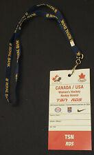 2000/2010's - CANADA vs USA - WOMEN'S HOCKEY - TSN /RDS MEDIA /TV PASS -ORIGINAL