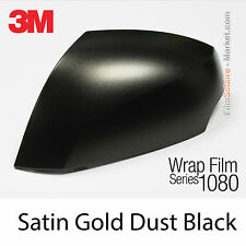 10x20cm FILM Satin Gold Dust Black 3M 1080 SP242 Vinyl COVERING New Series Wrap