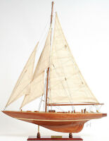 "Enterprise 1930 America's Cup Yacht J Class Boat Wooden Model 25"" Sailboat New"