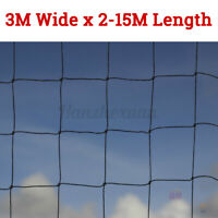 3X15M Anti Bird Garden Netting Heavy Duty Net Strong Pigeons Chicken Cat Mesh