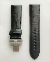 Original Tissot PRC-200 23mm Model T055427A Black Leather Band Strap with Clasp