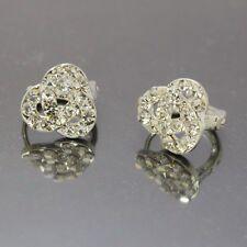 Fashion Clear Crystal Rhinestone Ear Circle Hoop Earrings ED1023