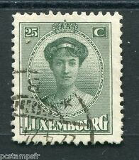 LUXEMBOURG, 1921-22, timbre CLASSIQUE 126, G D CHARLOTTE oblitéré, VF used stamp