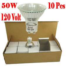 10 HALOGEN FLOOD LIGHT BULB GU10 110V 120V 50 WATT Bulb EXN MR16 LAMP COOL WHITE