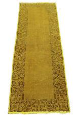Oriente Alfombra Vintage overdyed 160x50 oro Look Usado elegante anudada a mano
