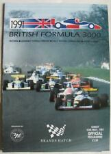 BRANDS HATCH 12 May 1991 British Formula 3000 A4 Official Programme