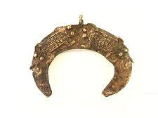 "Amazing Lobi Bronze Amulet Pendant of Turtles Burkina Faso-Africa 3.25""W"