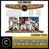 2019 TOPPS GOLD LABEL BASEBALL 16 BOX (FULL CASE) BREAK #A357 - RANDOM TEAMS