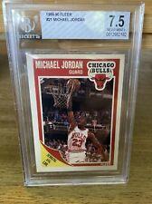 Michael Jordan 4th year 1989-90 Fleer #21 Graded Card BGS 7.5 Chicago Bulls GOAT
