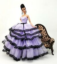 Eaki Lavender Clothes Silkstone Barbie Fashion Royalty Evening Dress Outfit Gown