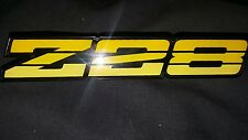 1990 1991 1992 camaro z28 dash badge yellow emblem iroc 5.7 5.0 tpi
