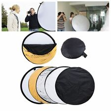 """24""""/60cm 5-in-1 Round Light Collapsible Photography Reflector Multi Photo Disc"""