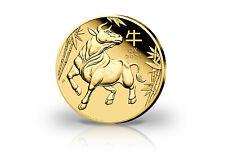 Lunar Serie 1/10 oz Gold 2021 Australien Jahr des Ochsen