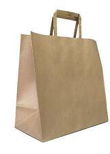 100 x Kraft Carry Bag Gift 210mm L x 180mm W+ 90mm gusset