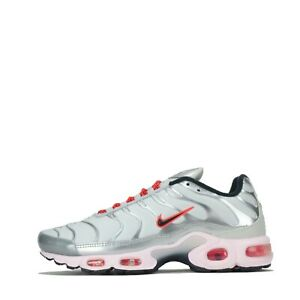 Nike Women's Air Max Plus Tuned Tn Trainers Shoes Metallic Silver