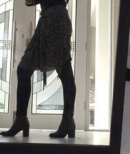 Isabel Marant Etoile Skirt Black Grey Layered Size S REDUCED