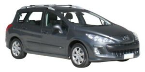 Whispbar Silver 2 Bar Roof Rack for Peugeot 308 5dr Wagon 08- (S44W & )