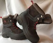 COLUMBIA Snow Boots OMNI-HEAT  Size 5 Mens  Brown Suede