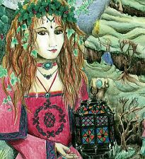 Cartolina di natale LADY pagane Medievale GAME OF THRONES WICCA CELTIC Yule Regalo