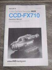 Sony Video Camera Recorder Hi8 CCD-FX710 Operation Manual Owners Handycam