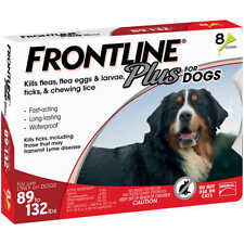 FRONTLINE PLUS X-Large Dogs 89-132 lbs - 8 Month Supply New In Box EPA 6