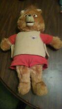 1985 TEDDY RUXPIN Worlds of Wonder Talking Plush Bear