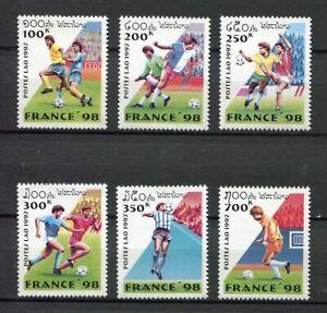 35451) LAOS 1997 MNH** WWF World Cup Football France 6v