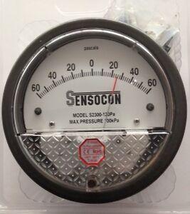 Sensocon Differential Pressure Gauge 120PA alternative to Dwyer Magnehelic