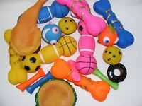 Bulk Pack of 10 Medium Bumper Selection of Squeaky Vinyl Dog Toys