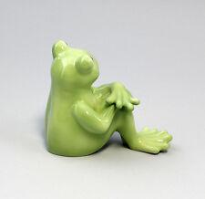 Figurines En Porcelaine Enfant grenouille Frederike Wagner & Apel 4x10x8cm