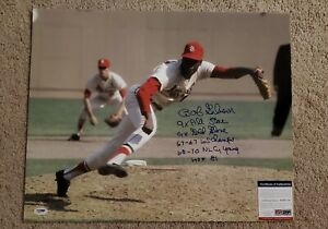 PSA/DNA Bob Gibson Signed 16x20 with 5 Inscriptions,Free Shipping!!!