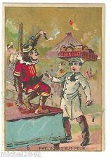 Chromo Boquain Freluquet eut peur singe monkey serveur patissier cirque circus